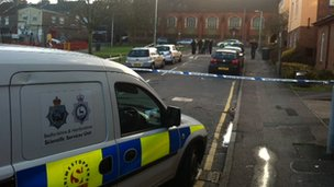 Scene of Luton shooting in Russell Street
