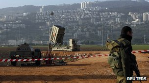 Iron Dome interceptor battery near Haifa - 28 January