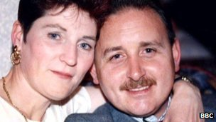 Denis Donaldson pictured with his wife, Alison
