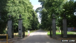 Entrance to Pontcanna Fields
