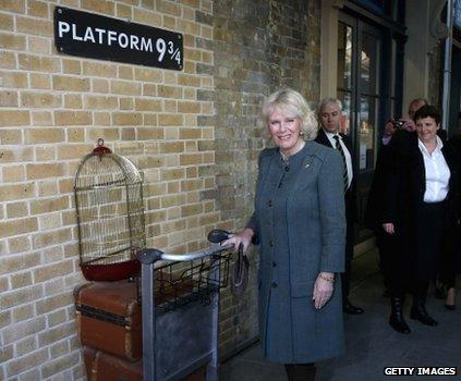 Duchess of Cornwall at Platform 9 3/4