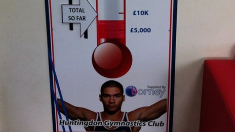 Huntingdon Gymnastics Club&#039;s fund-raising board