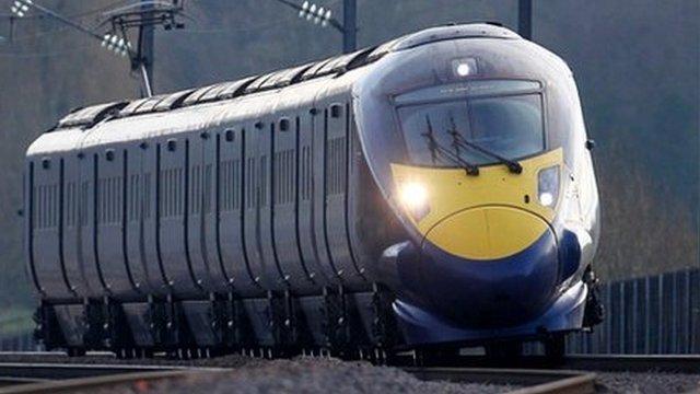 The HS1 in Ashford, Kent