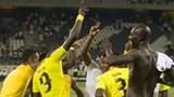 Togo celebrate their qualification for the Nations Cup quarter-finals