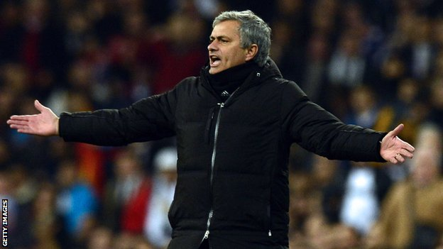 Under-pressure Real Madrid boss Jose Mourinho