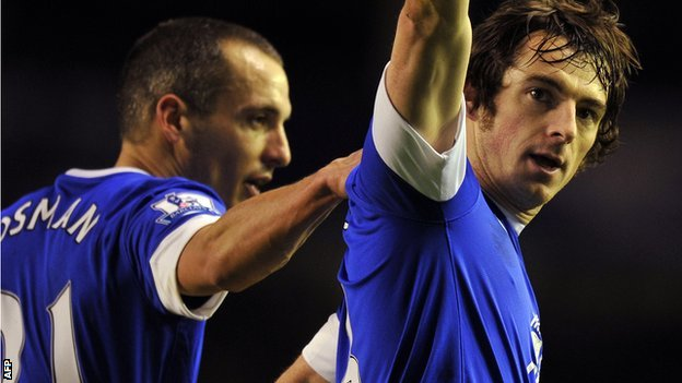 Leon Osman and Leighton Baines