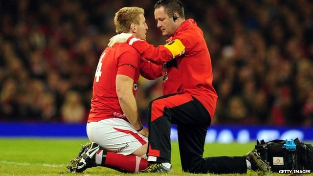 Bradley Davies was injured during Wales' autumn clash with New Zealand