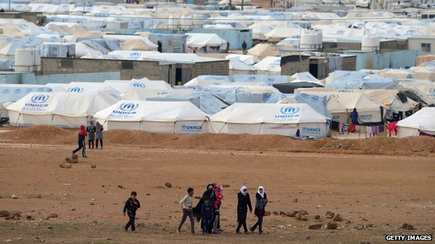 Refugee camp in Jordan