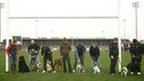 Exeter Chiefs players and their dogs