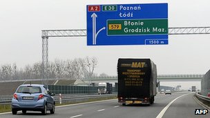 Polish motorway - file pic