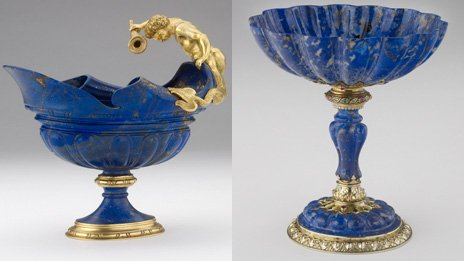 Lapis lazuli bowl and cup