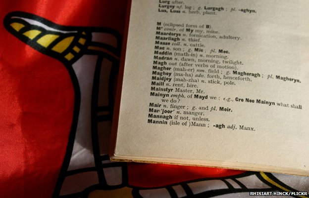 Manx dictionary, photo courtesy of Rhisiart Hinck/Flickr