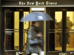 New York Times entrance