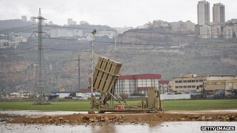 Israeli Iron Dome defence system has been deployed near the city of Haifa