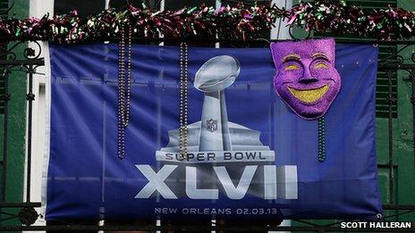 Super Bowl banner