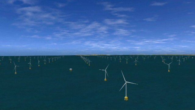Graphic impression of the proposed offshore wind farm