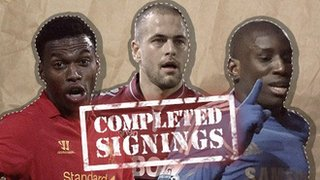 Completed signing