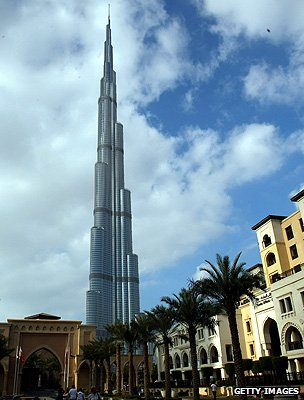 The Burj Khalifa tower in Dubai