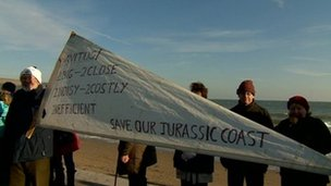 Navitus Bay protest in Swanage earlier this month