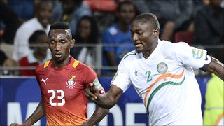 Niger rely heavily on Moussa Maazou  (R)