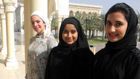 Ruba Al-Araji, Fatima Al Zaabi and Fatma Abdulla Hussain