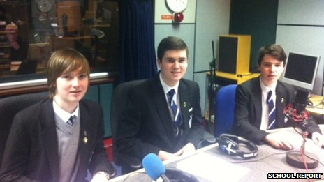 Garry (left), Jack (centre) and Kane (right) from St Columb&#039;s College
