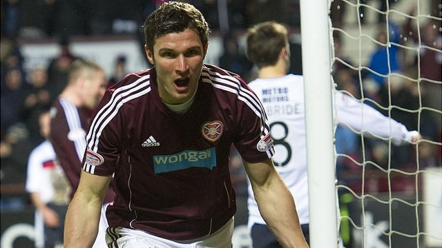 Hearts forward John Sutton