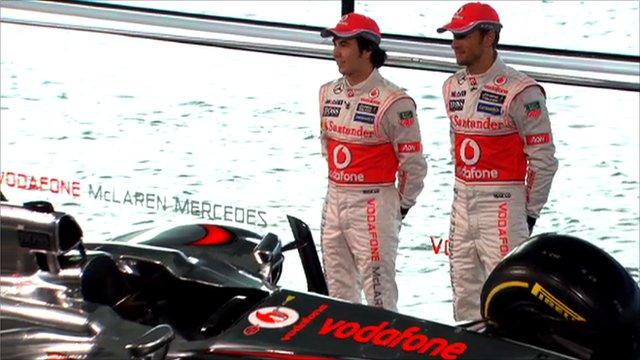 Sergio Perez and Jenson Button