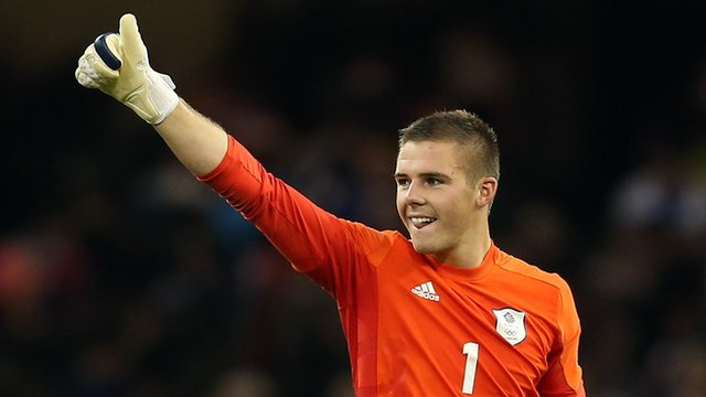England goalkeeper Jack Butland