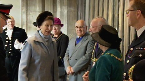 The Princess Royal visiting Chelmsford Cathedral