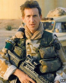 Dan Jarvis, MP for Barnsley, in his days as an army officer