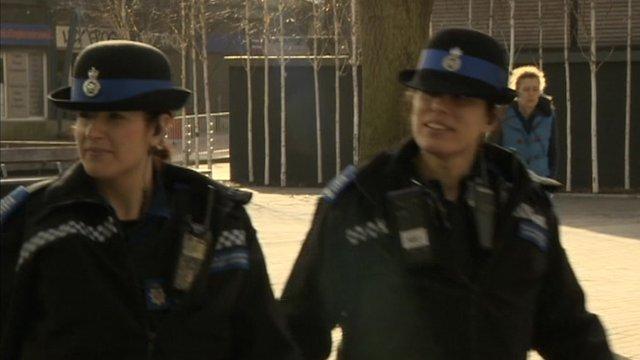 Two PCSOs on duty in Swindon