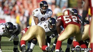 A Baltimore Ravens v San Francisco 49ers game in 2007