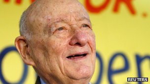 Former New York Mayor Ed Koch file picture