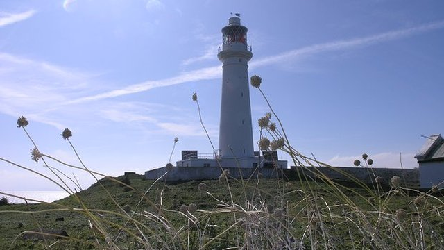 Flat Holm Island lighthouse