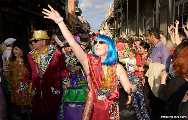 The first parade of the Mardi Gras season