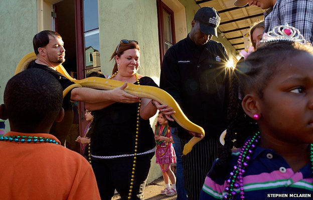 A snake owner of Rampart Street