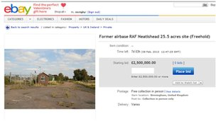 eBay page showing the advert for Neatishead radar base