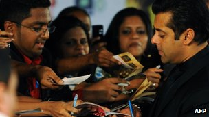 Salman Khan signs autographs for fans