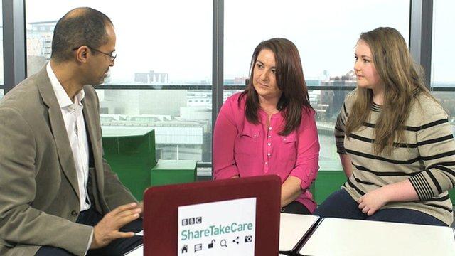 Online security expert Tom Ilubé meets mum Sarah and teenage daughter Becky