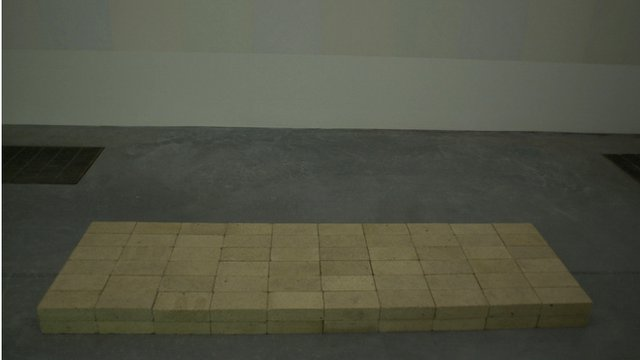 "Carl Andre's sculpture ""Equivalent VIII"""