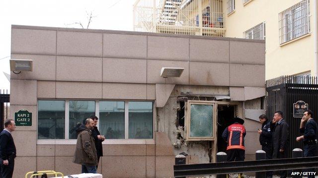 US embassy in the Turkish capital, Ankara,