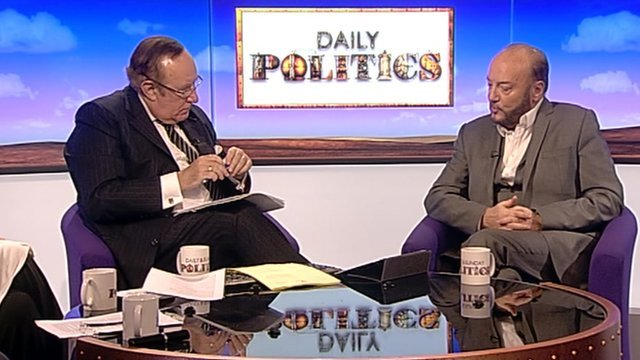 Andrew Neil and George Galloway