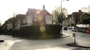 Ninian Road in Roath, Cardiff [l], and Shirley Road [r]