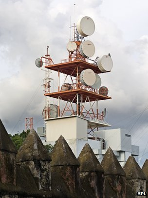 Mobile phone mast in Cuernavaca, Mexico
