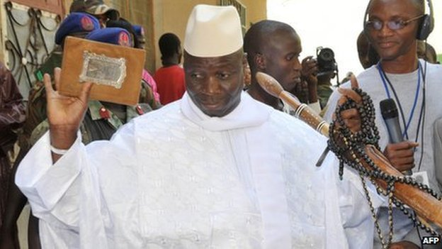 The Gambia&#039;s President Yahya Jammeh (24 November 2011)