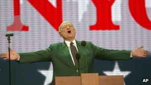 Ed Koch addresses the Republican Convention in 2004 (30 August 2004)