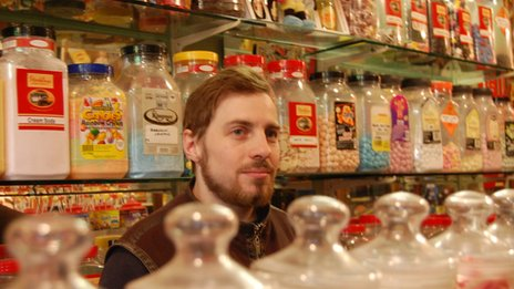 Jerome Franklin-Ryan, specialist at The Sweet Shop and Tobacconist in Hastings