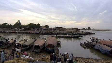 Boats on the River Niger