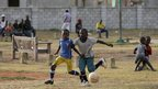 Boys playing football near Port Elizabeth, South Africa - Wednesday 30 January 2013
